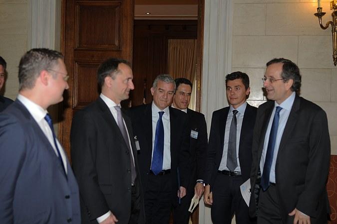 Συνάντηση με τον Πρωθυπουργού κ. Αντώνη Σαμαρά και τον CEO της SAP κ. Jim Hagemann Snabe